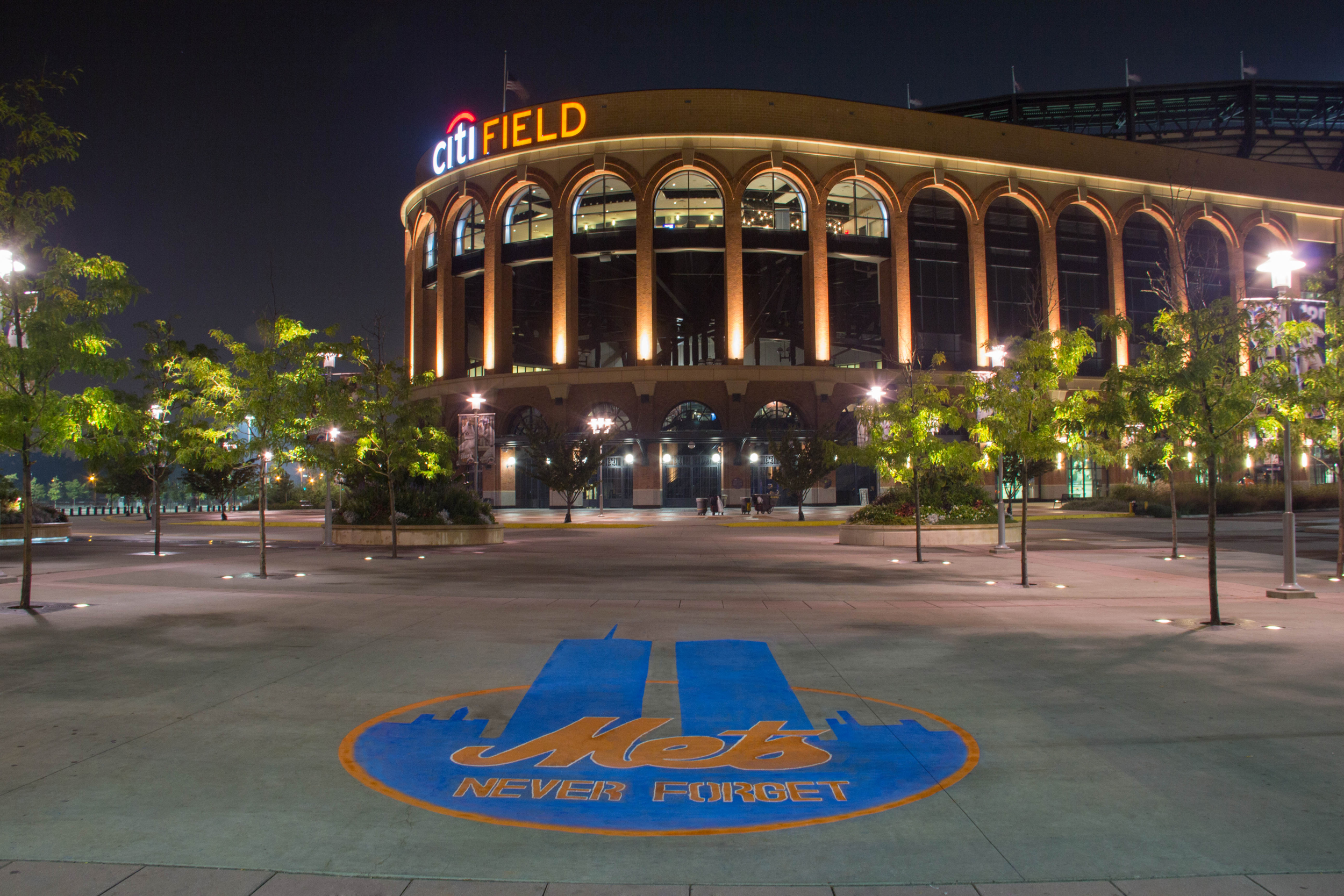 Last Night, Miami Students Chalked A Tribute To 9/11 Outside Citi Field