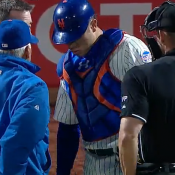 D'Arnaud Day To Day With Stiff Shoulder
