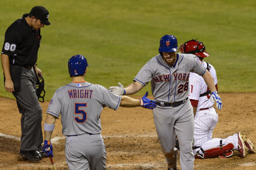 Mets Edge Phillies 5-4 With Help from Wright & Weather