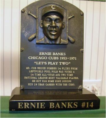 ernie banks plaque