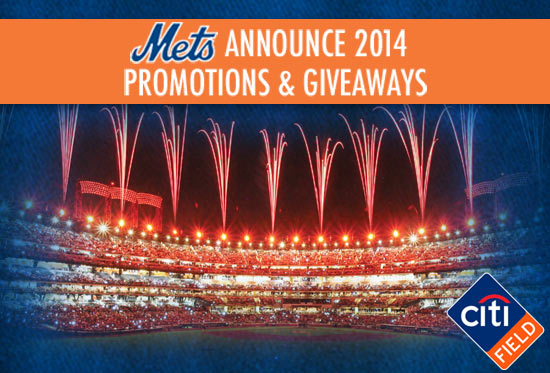 Mets Announce 2014 Promos: Free-Shirt Fridays, Saturday Concerts, Family Sundays