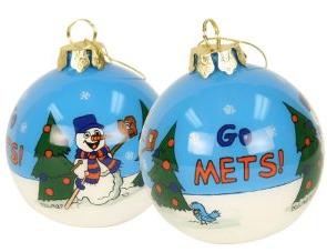 mets christmas balls