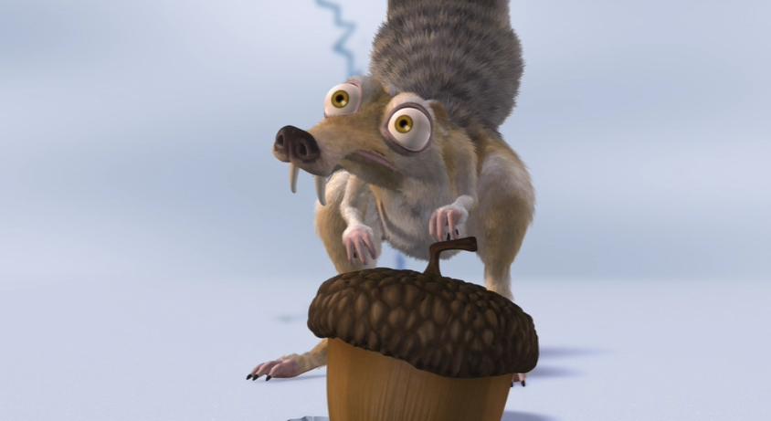 Scrat ice age pixar nut
