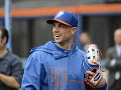 David Wright Fields Grounders At Citi Field