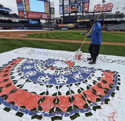 citi field opening day 2014 MLB logo