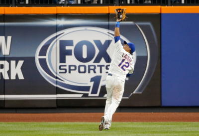 Juan Lagares Named ESPN Defensive Player of the Month
