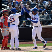 Watch Chris Young Crush His First Home Run With Mets