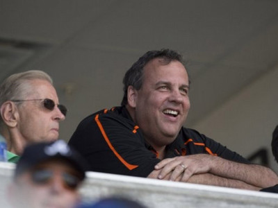 governor Chris Christie-at-Mets