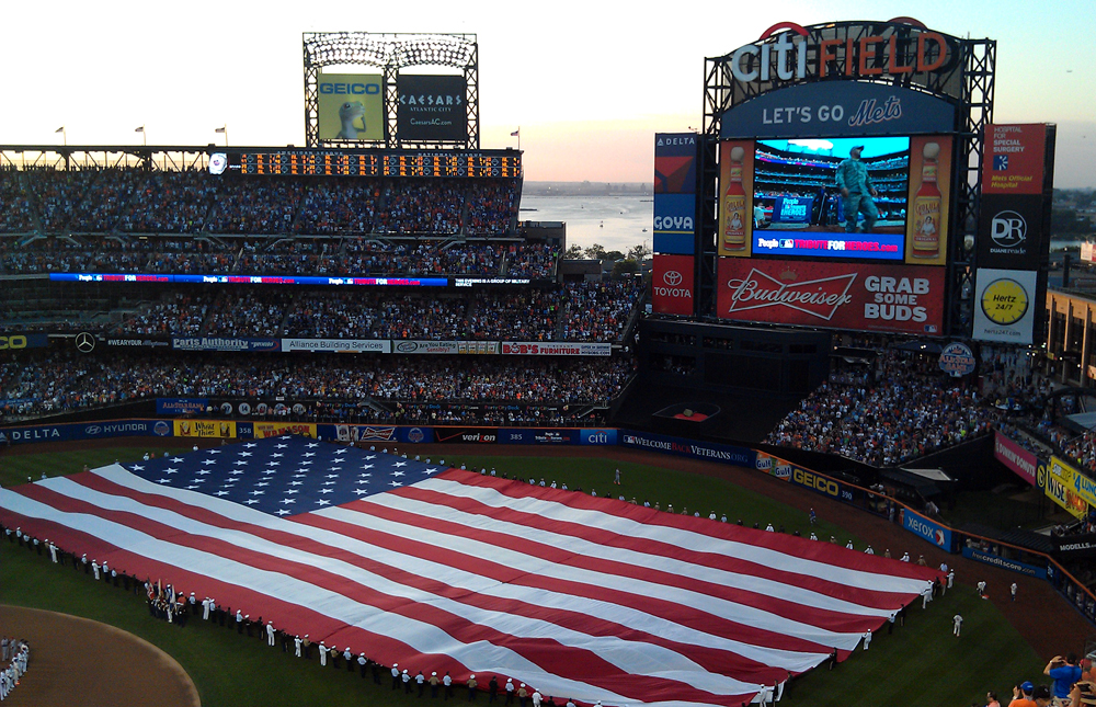 us flag at citi