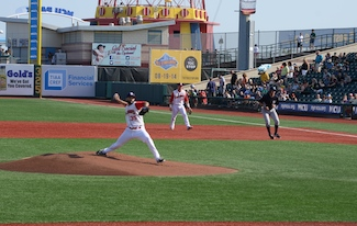 Gee minimized the damage in the first inning, allowing only one run. (Photo by Diana Colapietro)