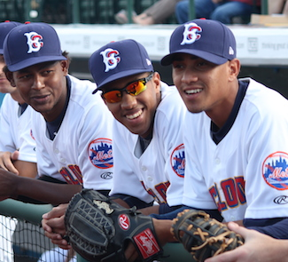 The Cyclones were all smiles on Opening Day. (Photo by Jim Mancari)