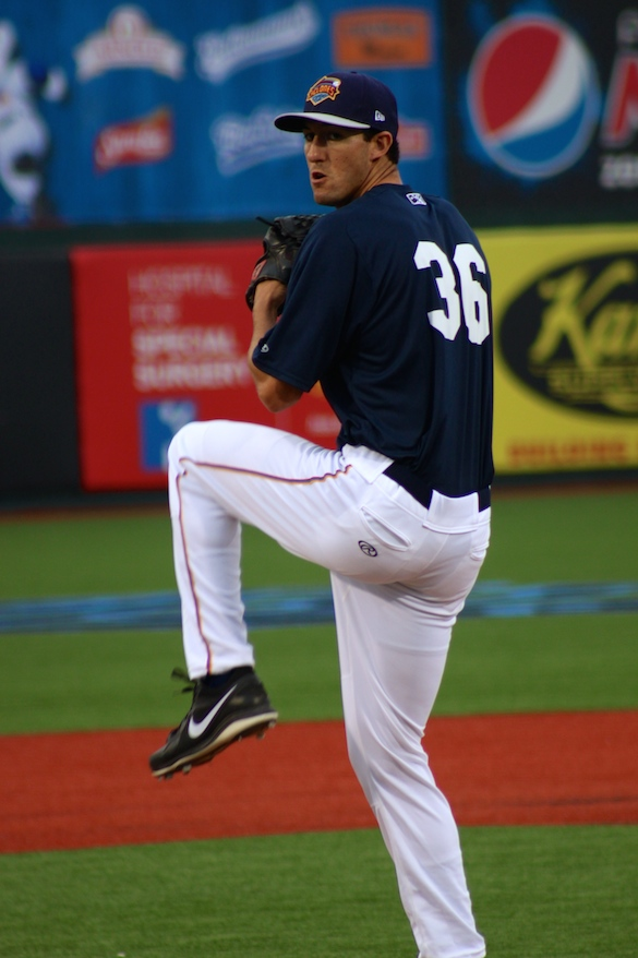 Cyclones righty Gaither Bumgardner was the tough luck loser Monday night. (Photo by Jim Mancari)