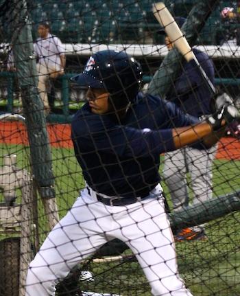 Joe Tuschak has been swinging a hot bat, including a home run Tuesday night. (Photo by Jim Mancari)