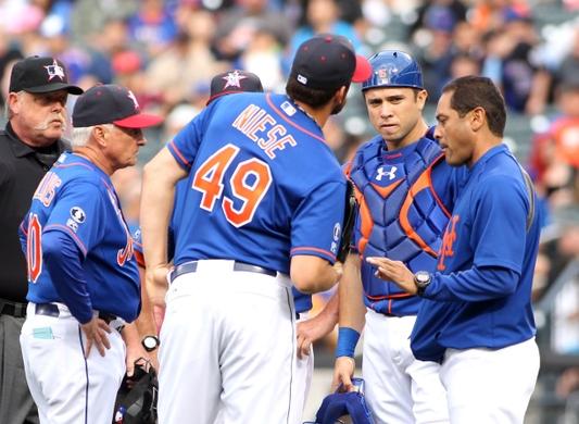 MLB: Texas Rangers at New York Mets