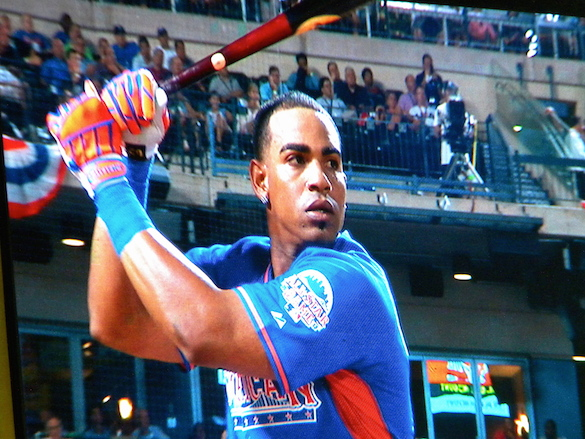 Yoenis Cespedes at the 2013 Home Run Derby at Citi Field (Photo by Jim Mancari)