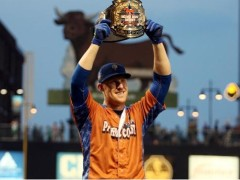 Allan Dykstra Is Crowned The 2014 PCL HR Derby Champ
