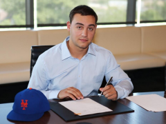 First-Rounder Michael Conforto Signs Contract At Citi Field