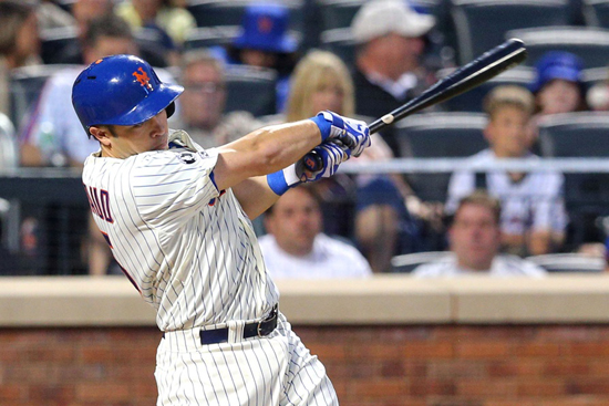 d'Arnaud's 7th inning blast marked the 9th consecutive game that the Mets have homered at Citi Field, setting a record.