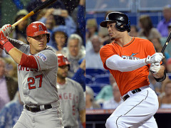 Mike Trout and Giancarlo Stanton Win Hank Aaron Awards