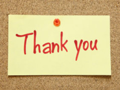 Just A Quick Word Of Thanks…