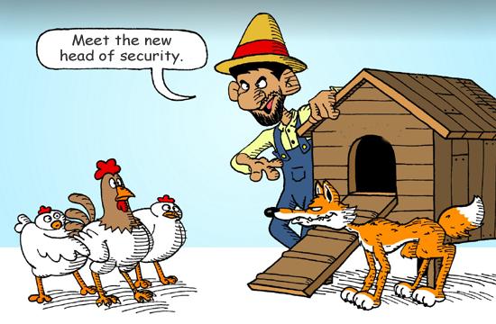 Fox guarding the henhouse copy