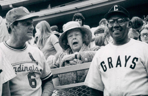 Even on Old Timers Day, Mrs. Payson would sit with the fans at Shea.
