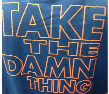 take the damn thing