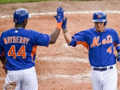 Mets Win A Pair: Flores, Grandy, Cuddyer All Homer