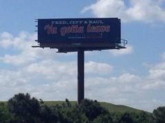 Fred, Jeff, Saul, Ya Gotta Leave: Mets Billboard Goes Up In PSL