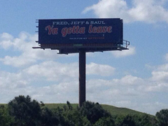 Fred, Jeff, Saul, Ya Gotta Leave: Mets Billboard Goes Up In PSL