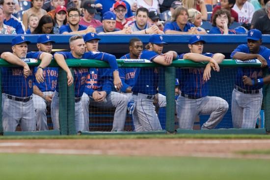 Mets bench