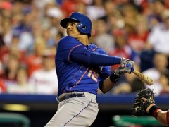 With A Mighty Swing Of His Bat, Lagares Snaps Hitless Streak