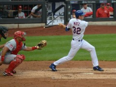 Matz Strokes Two-Run Double In First MLB At-Bat