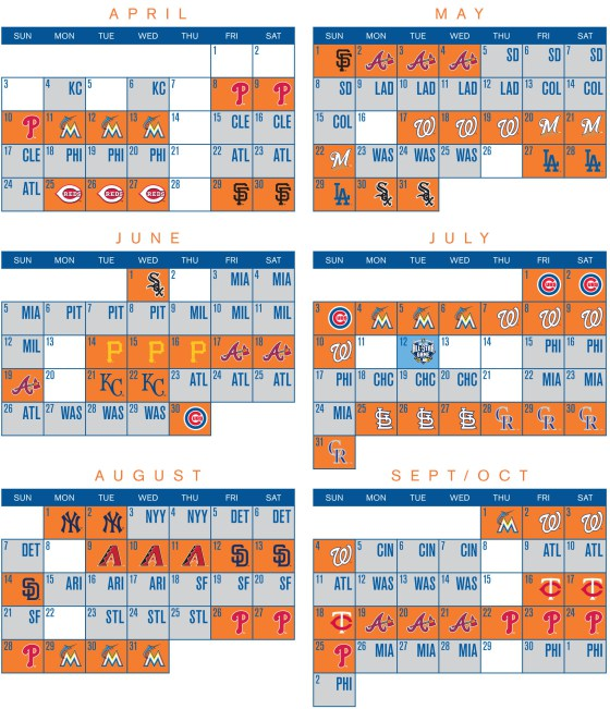 photo regarding Phillies Schedule Printable named Fresh York Mets Announce 2016 Schedulers Metsmerized On the internet
