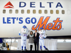 Delta Airlines Unveils Mets Branded Boeing 757!