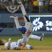 Tejada Suffers Fractured Right Fibula After Late Take-Out Slide By Utley