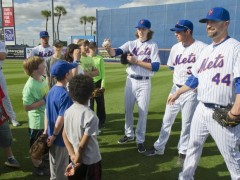 Mets Players And Staff Host Clinic For St. Lucie Special Olympics