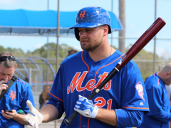 Lucas Duda Implementing New Pregame Regimen