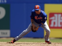 Wilmer Flores Makes First Base Debut