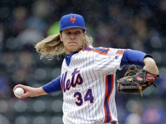 Opposing Teams Running On Syndergaard