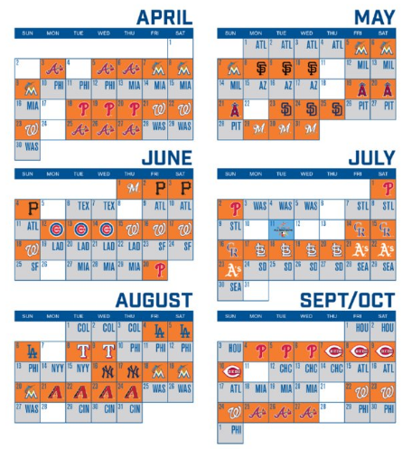 photo about Printable Mets Schedule identified as Mets Launch 2017 Month-to-month Time Routine Metsmerized On-line