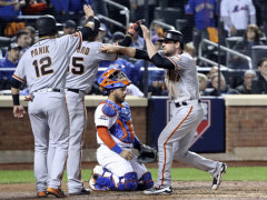 It's Over. Bumgarner, Gillaspie Defeat Mets 3-0 Despite Gem from Thor
