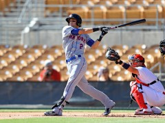 Stuart Hitting Well in AFL, Cecchini Leaves Game Early