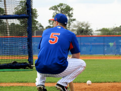 Photos from PSL: David Wright Had A Busy Day, Throwing, Fielding, Batting