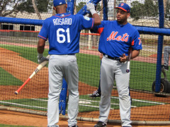 Mets Top Prospects Take BP At Tradition Field