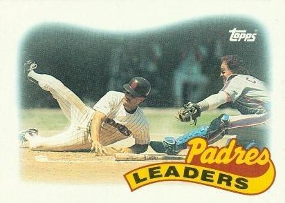 1989 padres team leaders card