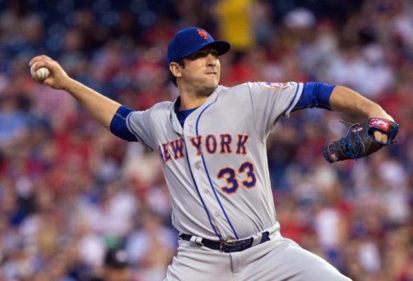 During Matt Harvey's win against the Philadelphia Phillies on Tuesday, he tweaked his leg on two different occasions while covering the first base bag.