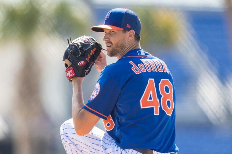 Jacob deGrom New York Mets Spring Training Baseball Player Jersey
